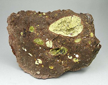 Calcian Nontronite with Hollandite.