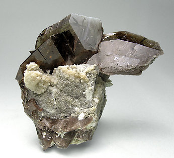 Axinite-(Fe) with Calcite. Front
