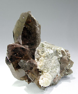 Axinite-(Fe) with Calcite. Side