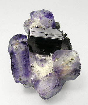 Ferberite with Fluorite, Quartz and Pyrite.