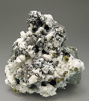 Siegenite with Chalcopyrite and Dolomite.
