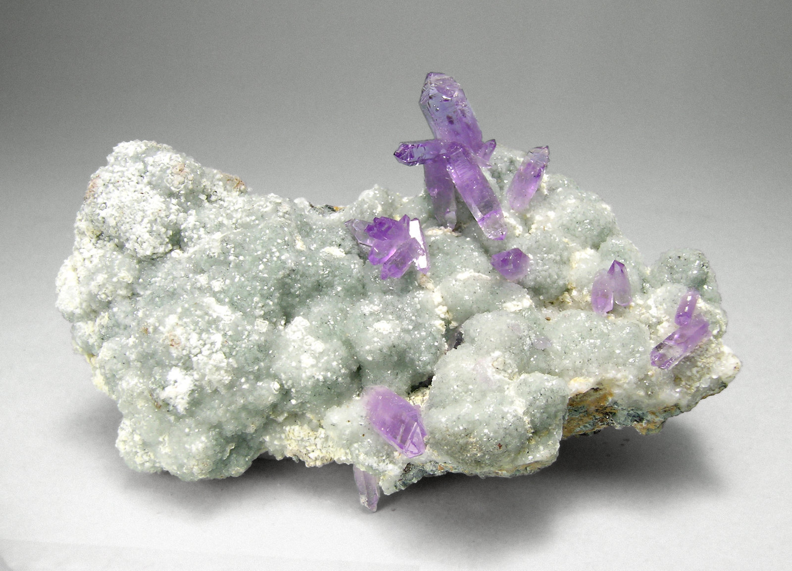 Quartz (Amethyst) with Calcite