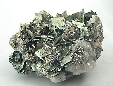 Marcasite with Pyrite, Arsenopyrite, Calcite and Dolomite.
