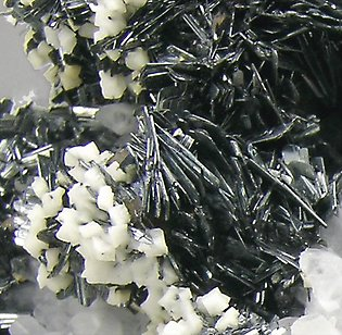 Chalcostibite with Quartz and Dolomite.