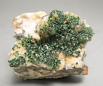 Malachite with Dolomite.