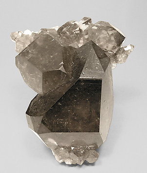 Smoky Quartz with Albite.