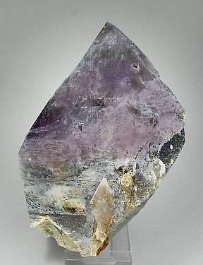 Quartz (variety amethyst) with smoky Quartz and Microcline. Side