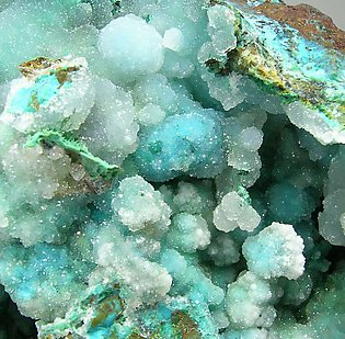 Chrysocolla with Quartz.
