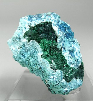 Plancheite with Malachite.