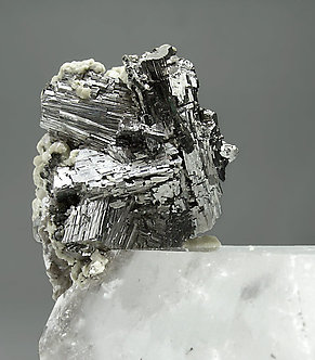 Quartz with Arsenopyrite, Muscovite and Siderite.