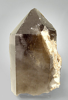 Smoky Quartz with Microcline. Side