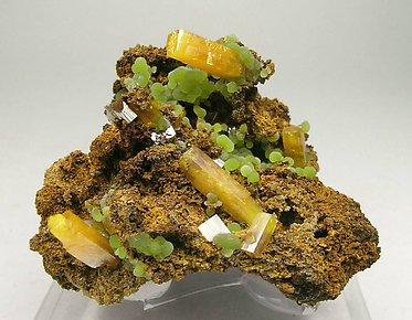 Wulfenite with Mimetite.