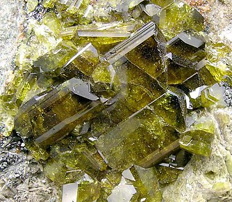 Epidote with Grossular (Hessonite).