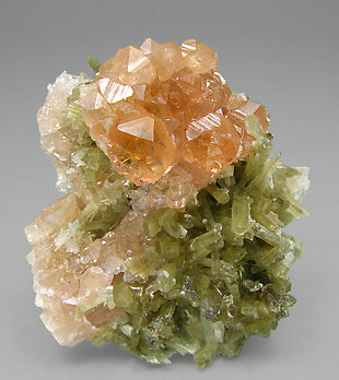 Grossular (hessonite) with Vesuvianite.