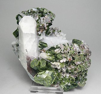 Epidote with Quartz and Andradite.