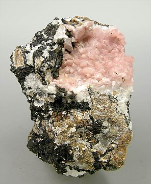 Rhodochrosite with Kentrolite.