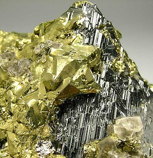 Carrollite with Chalcopyrite and Calcite.