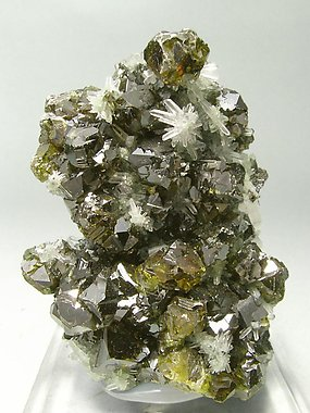 Sphalerite (variety cleophane)  with Quartz and Galena.