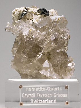 Hematite with smoky Quartz.