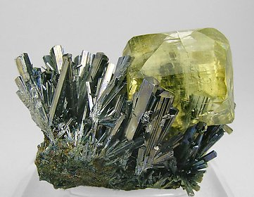 Calcite with Stibnite. Side