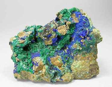 Euchroite with Azurite.