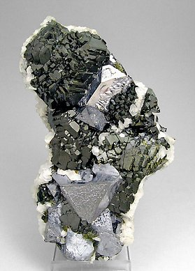 Sphalerite with Galena, Calcite and Fluorite.