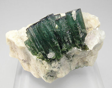 Elbaite with Albite and Muscovite. Front