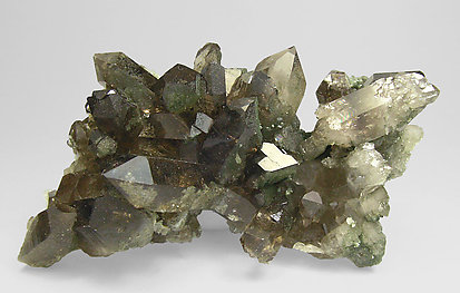 Smoky Quartz with Chlorite and amphibole. Side