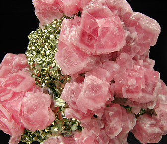 Rhodochrosite with Pyrite and Sphalerite.