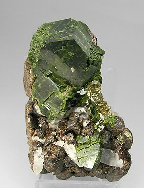 Epidote with Andradite and Pyrite.