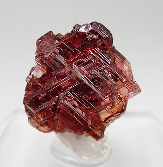 Spessartine with Quartz. Front