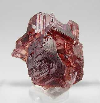 Spessartine with Quartz. Rear