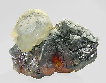 Sphalerite with Calcite and Dolomite. Front