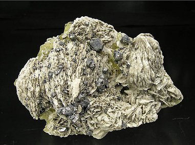 Galena with Baryte and Fluorite.