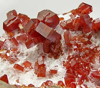 Vanadinite with Barite and Gypsum.