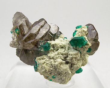 Cerussite with Dioptase.