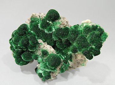 Malachite with Calcite.