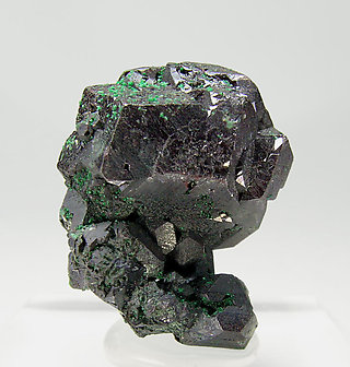 Cuprite with Malachite. Front