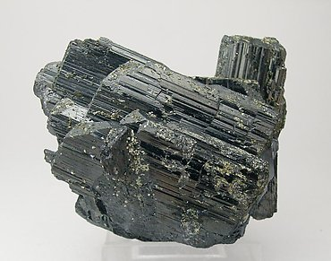 Ferberite with Pyrite and Quartz. Rear