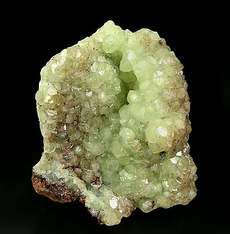 Smithsonite with Cuprite inclusions.