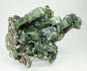 Fluorapatite with Muscovite, Quartz and Dolomite. Side