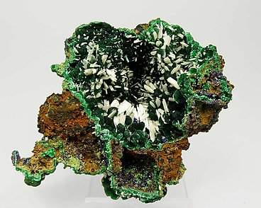 Cerussite with Malachite.