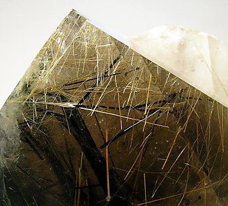 Smoky Quartz with Astrophyllite, Aegirine and Bastnäsite-(Ce).