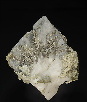 Allargentum with Calcite and Actinolite.