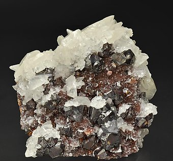 Sphalerite with Calcite and Galena.