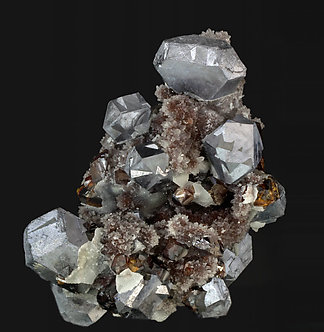 Galena with Sphalerite and Quartz.