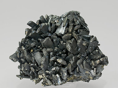 Stibnite with Pyrite.