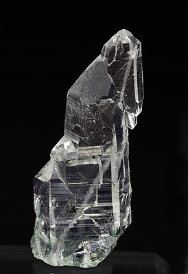 Quartz (variety faden) with inclusions. Rear
