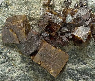 Perovskite with Magnetite.