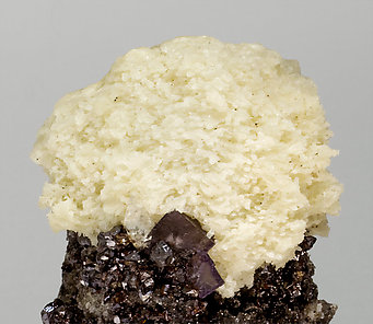 Fluorite with Sphalerite and Baryte.